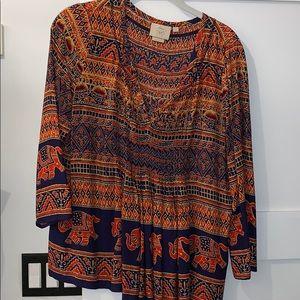 Vanessa Virginia Anthropologie blouse EUC size 6